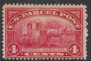 U.S. SCOTT Q4 MNG FINE - 1913 4c CAR ROSE PARCEL POST ISSUE  CV $27.50