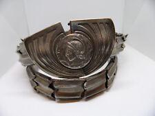 ANTIQUE Victorian Edwardian Art Nouveau Silver BELT WITH  BUCKLE C&R