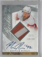 2008-09 The Cup Hockey Mattias Ritola Auto Patch Rookie Card # 118/249 (CSC)