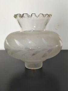 Boccia Campana Lampadari Lampade ricambi di vetro bianco per Lumi Vintage antico