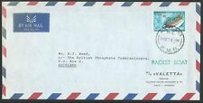 CHRISTMAS ISLAND 1973 Paquebot ship cover cancelled at Auckland NZ........65247
