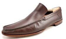 Baccaglini Men's Leather Slip On Moc Toe Loafers Brown Shoes Size 45 , US 11.5