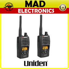 UNIDEN UH820S-2 Twin Pack 80 Channel 2 Watt UHF Handheld Radio USB Charging NEW