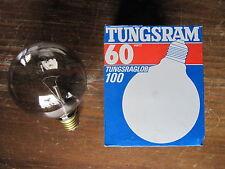 RARE 1 x TUNGSRAM Globe g100 fumée FUME GRIS 60 W 100 mm e27 240 V 60 W g95