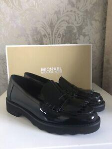 Michael Kors Alberta Patent Leather Loafers Size UK3 BNIB