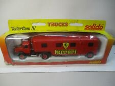 Estate Find Solido Toner Gam Iii Red Ferrari Truck And Trailer