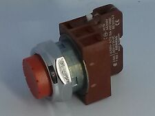 Siemens 30MM Extended Red Pushbutton 3SB03-PER + 3SB1430-0C N.C. Contact Block