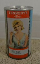 Tennents Girls Pat Intrigued sexy Straight Steel Pull Tab 333ml Beer Can Bo