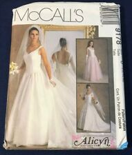 Vintage McCall's Pattern 9178 Misses' ALICYN EXCLUSIVES BRIDAL GOWNS Sz 12-14-16