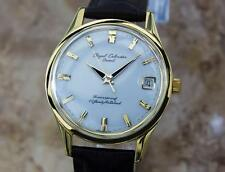 Orient Calendar Made in Japan 1960s Vintage Manual 38mm Gold Plated Watch Y89