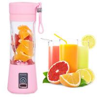 Portable 380ML Mixer Rechargeable USB Juicer Fruit Blender Juicer Shaker Bottle