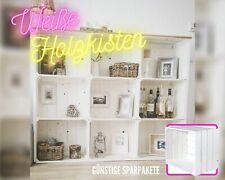 4 weiße Obstkisten Weinkiste Apfelkiste Vintage Holzkiste Holzkiste DIY Möbel