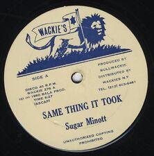 """Sugar Minott / Jah Batta – Same Thing It Took ORIG USA 12"""" NEAR MINT WACKIES"""