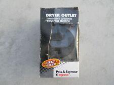 Dryer Outlet, Flush Mount, Black, 30 Amp 125/250Vac, 3 Pole, 4 Wire, New