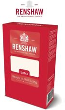 Renshaws Extra Firm Ready to Roll Icing Fondant Covering Sugarpaste - White 1kg