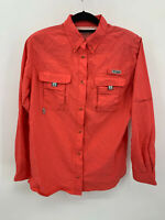Women's COLUMBIA PFG Omni-Shade Button Down Shirt Size Large Fishing Hiking