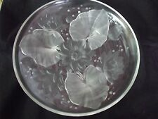 "Vintage Verlys Lily Pad Dish 13.75"" Diameter Signed"