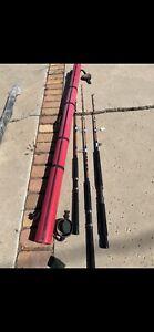 Seeker Fugi Fishing Rod (boat/trolling)Lot Of 3