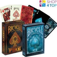 2 DECKS BICYCLE 1 FIRE ELEMENT AND 1 ICE PLAYING CARDS DECK MADE IN USA NEW