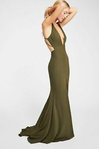 NEW FREE PEOPLE x FAME & PARTNERS $229 OLIVE THE SURREAL DREAMER MAXI DRESS SZ 0