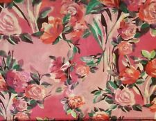 Pink Rose Floral Silk Stretch Chiffon in Rich Shades of Pink! So Feminine!
