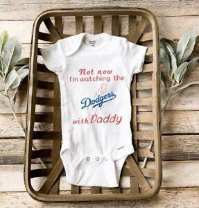 Dodgers baby Onesies. Pregnancy Announcement. Birth Announcement