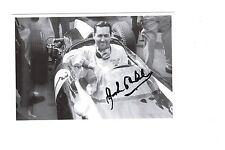 JACK BRABHAM HAND SIGNED 4x6 PHOTO+COA            FORMULA 1 RACING LEGEND IN CAR
