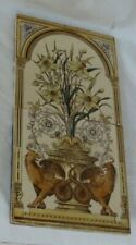 CHARMING TWO TILE ANTIQUE PANEL BEASTS FLOWERS A