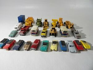 25 N scale Cars & Trucks & construction vehicles (No Boxes ) need cleaning