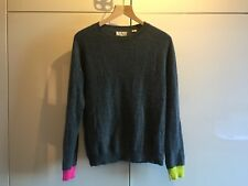 CHINTI AND PARKER CASHMERE JUMPER SWEATER / GREY PINK LIME GREEN / SIZE M / USED