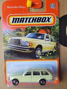 MATCHBOX 2021 - MERCEDES BENZ S123 WAGON [YELLOW] NEAR MINT CARD GOOD
