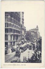 Broadway Near John Street New York City Manhattan Postcard