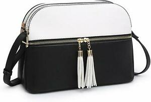 Dasein Women Tassel Zipper Pocket Crossbody Bag Shoulder Purse Fashion Travel Ba