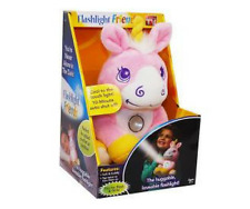 FLASHLIGHT FRIENDS UNICORN LIGHT PLUSHIE SOFT TOY TORCH RRP £14.99