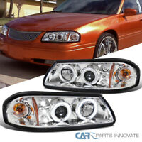 For 2000-2005 Impala Clear LED Dual Halo Projector Headlights Driving Head Lamps