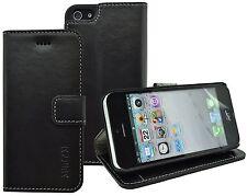 iPhone 5s / SE Tasche Book Style Ledertasche Hülle Schutzhülle Case in Schwarz
