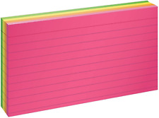 Oxford Neon Index Cards 3 X 5 Ruled Assorted Colors 100 Per Pack 40279