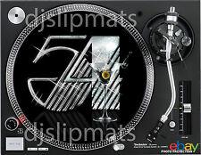 "Pair (2) STUDIO 54 Martini 12"" or 7"" DJ SLIPMATS Kaczor Siano Benitez disco RARE"