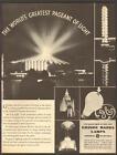 GE Light Bulbs OCT 1933 Chicago World Of Progress Expo Original Print Ad Q01 photo