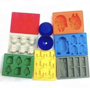 8 Pcs Of Star Wars Ice Trays Silicone Mold Ice Cube Tray Chocolate Fondant Mould