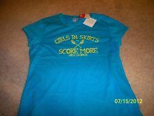 "Brand New! Women'S Puma Lacrosse Xl T-Shirt ""Girls In Skirts Score More"""