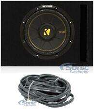 "Kicker 44CWCS124 CompC 12"" 600W SVC Car Sub+Vented Sub Box Enclosure(Black)"