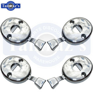 for 70-72 GM models Headrest Post Lock Release Chrome Escutcheon Assembly SET