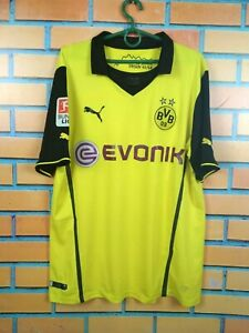 Borussia Dortmund Jersey 2013 2014 Cup Shirt LARGE Puma Football Soccer
