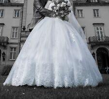 Hochzeitkleid Brautkleid Kleid weiß Gr. 38 Handschuhe Unterrock Brautbolero