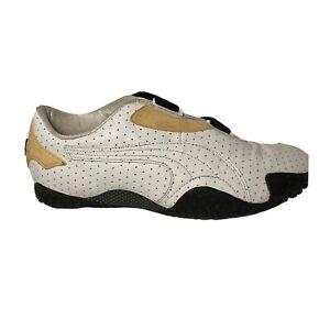 Rare Vintage  PUMA Mostro Perf Ext Women's Size 7 White Black Cream 341953 03