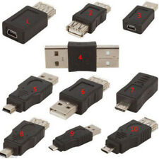 10pcs OTG F/M USB MASCHIO A FEMMINA MICRO MINI changer ADATTATORE CONVERTITORE