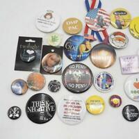Lot of 25 Vintage & Modern Button Badges Pins Pinback