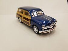1949 Ford Woody Wagon blue kinsmart TOY model 1/40 scale diecast metal Car
