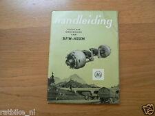 B.P.W. ASSEN BPW HANDLEIDING VOOR HET ONDERHOUD,DUTCH